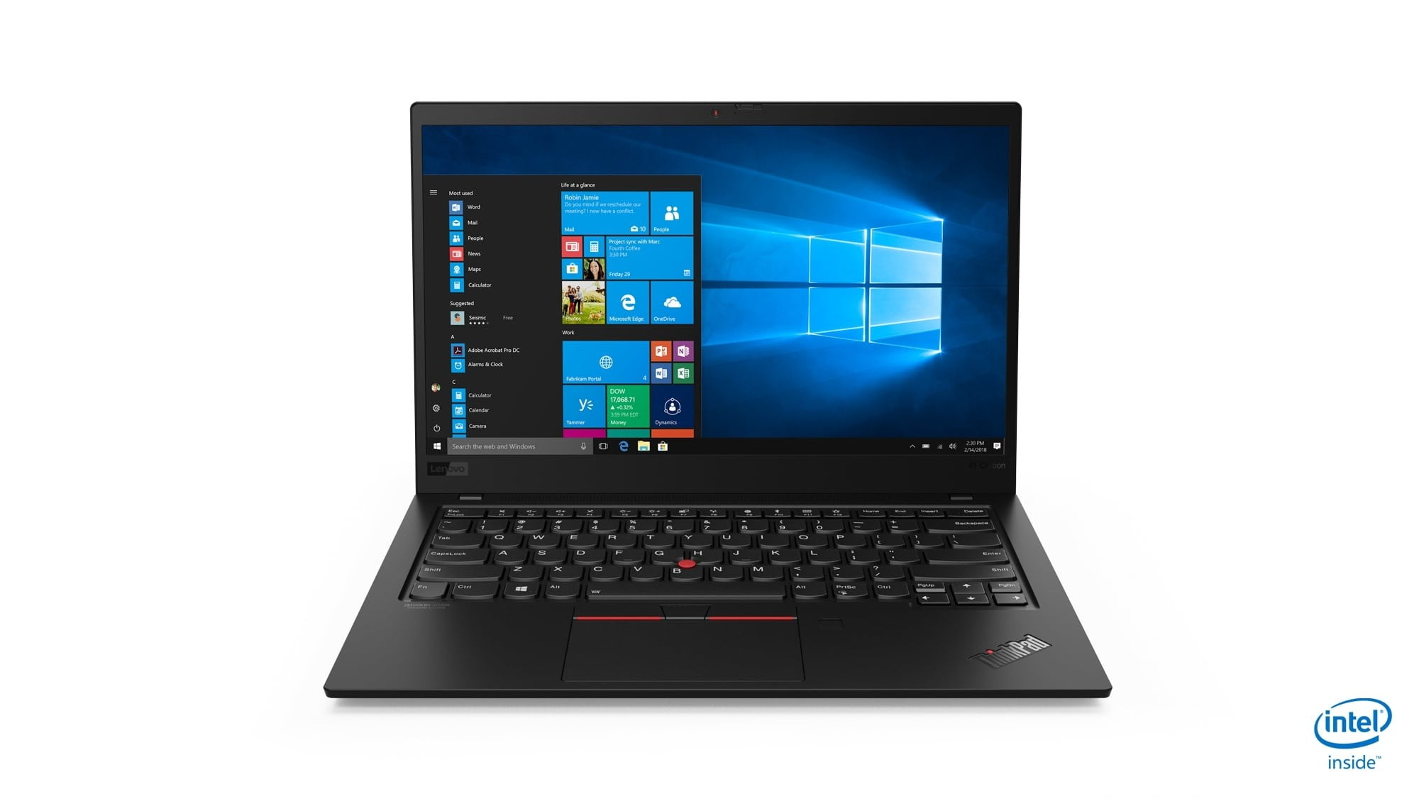 lenovo annouces new thinkpads with 10th gen cometlake 02 x1 carbon hero front facing jd