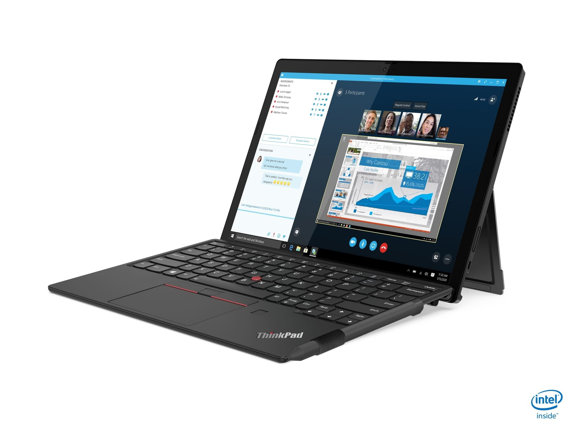 lenovo thinkpad x12 takes on microsoft surface ces 2021 03 hero front facing right