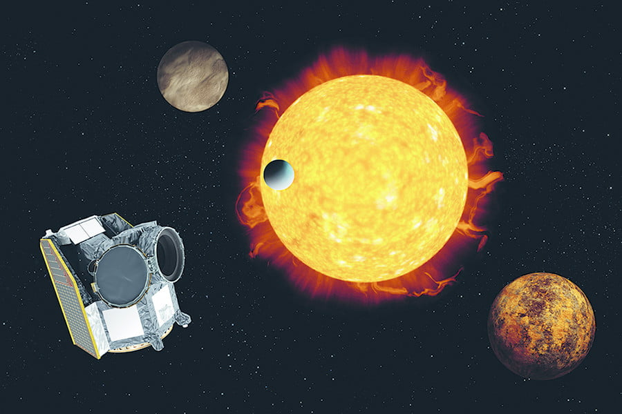 Illustration of CHEOPS, ESA's first exoplanet mission