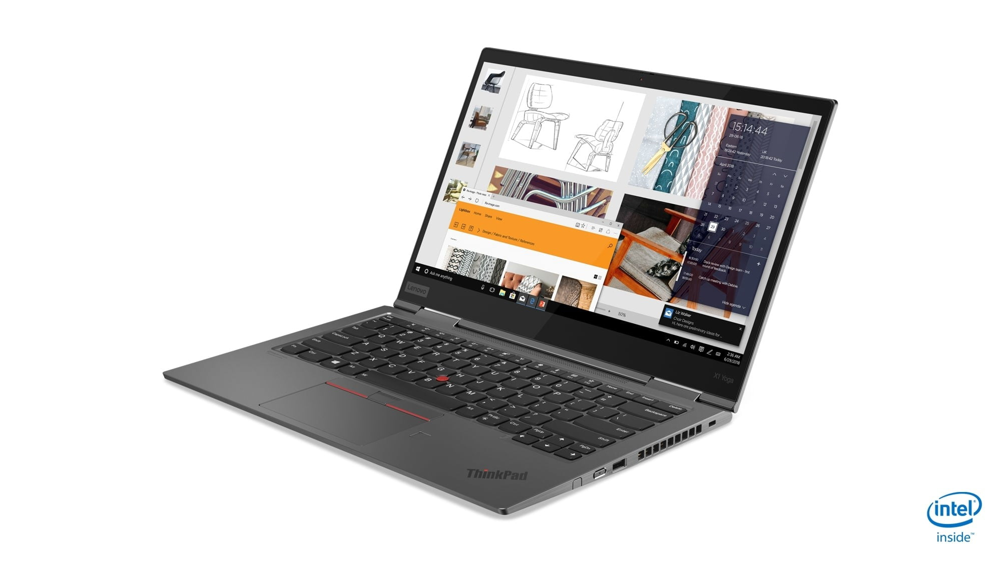 lenovo annouces new thinkpads with 10th gen cometlake 05 x1 yoga hero front facing left