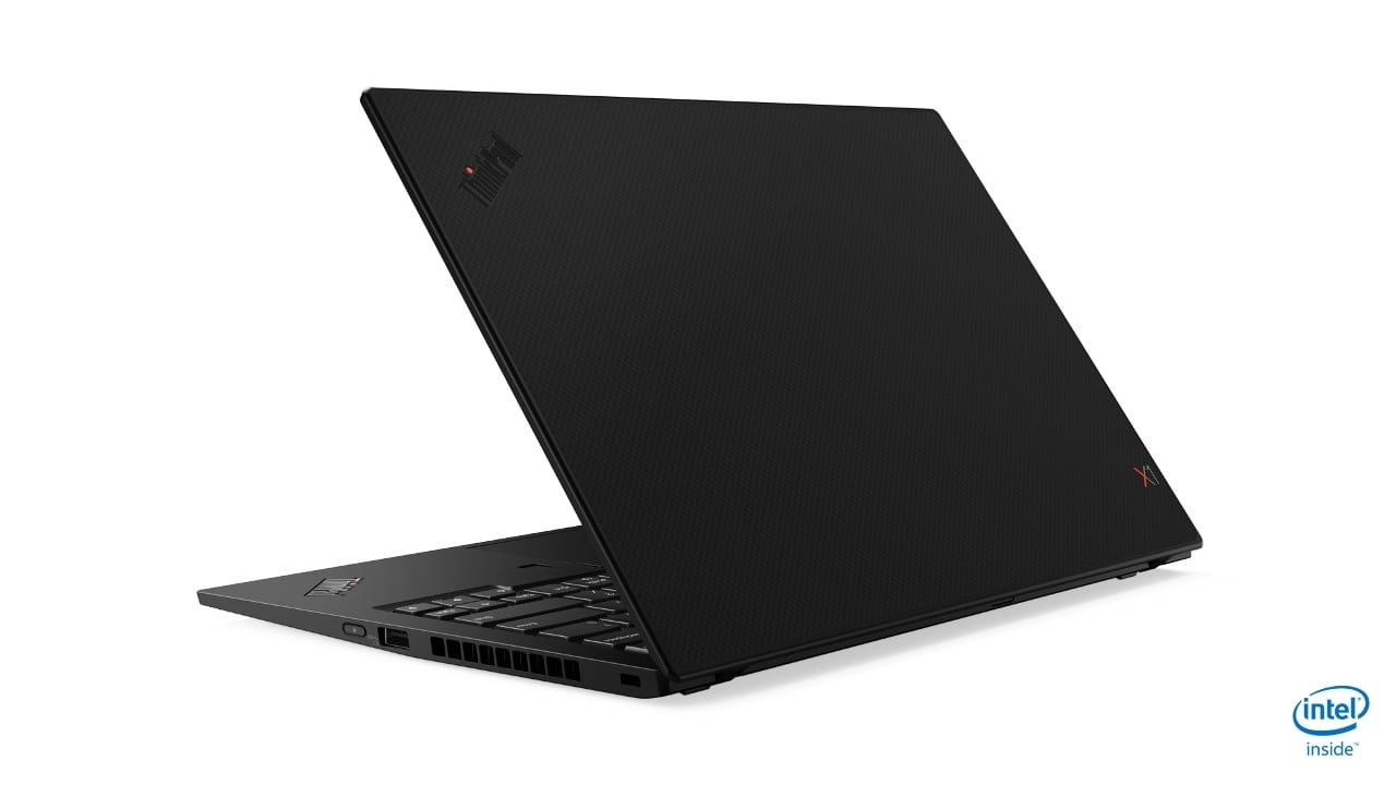 lenovo annouces new thinkpads with 10th gen cometlake 07 x1 carbon hero rear facing left 1
