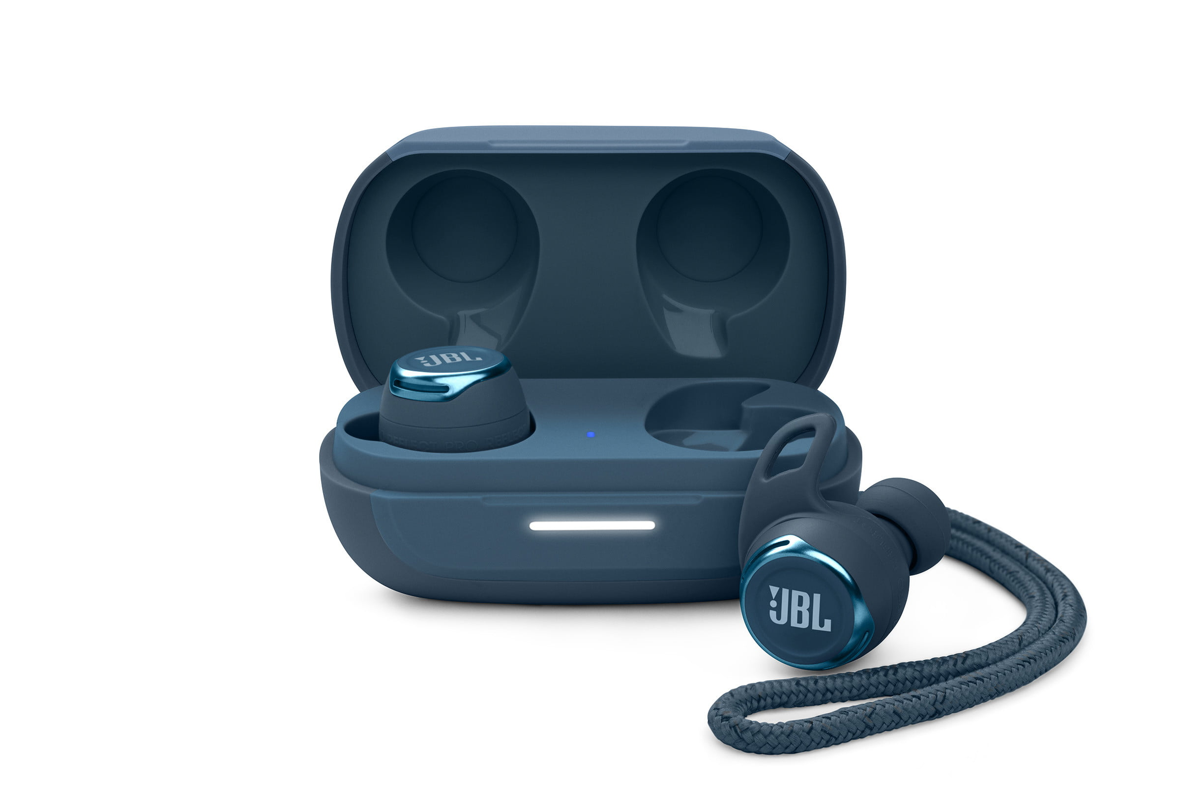 The JBL Reflect Flow Pro earbuds.