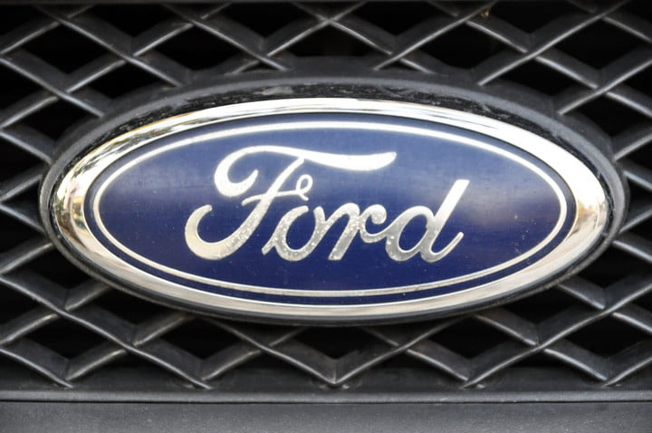 ford patents smart camera dolly 11379667  close up logo chrome metal