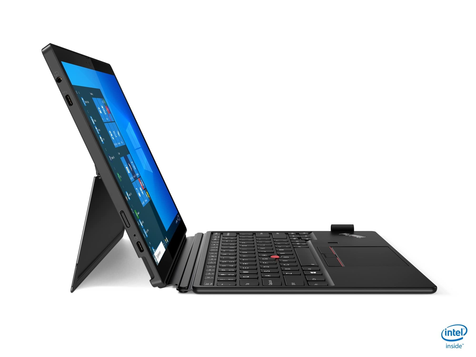 lenovo thinkpad x12 takes on microsoft surface ces 2021 11 with kb tour right side profile