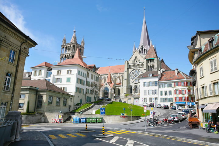 switzerland expands surveillance laws 13655813  the historic center of laussane in