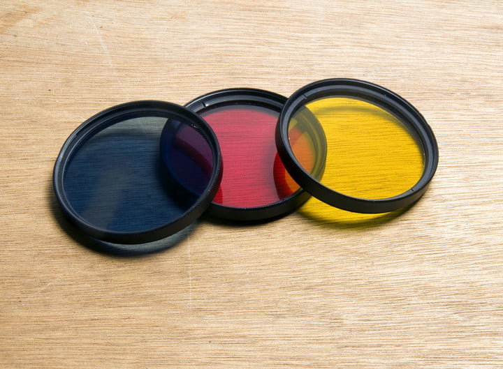 toshiba single lens 3d camera 14787725  screw in filters blue red yellow for black amp white film