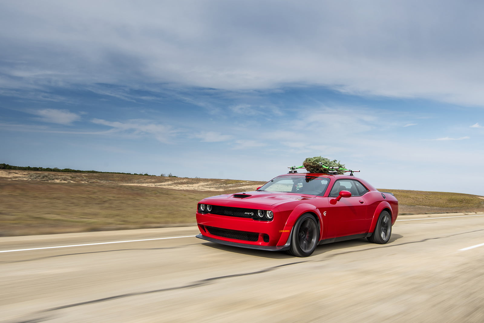 hennessey and dodge takes record for worlds fastest christmas tree 174mph 05