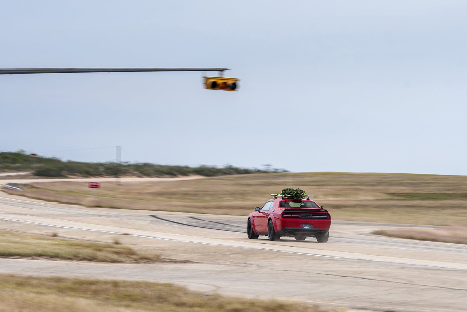 hennessey and dodge takes record for worlds fastest christmas tree 174mph 08