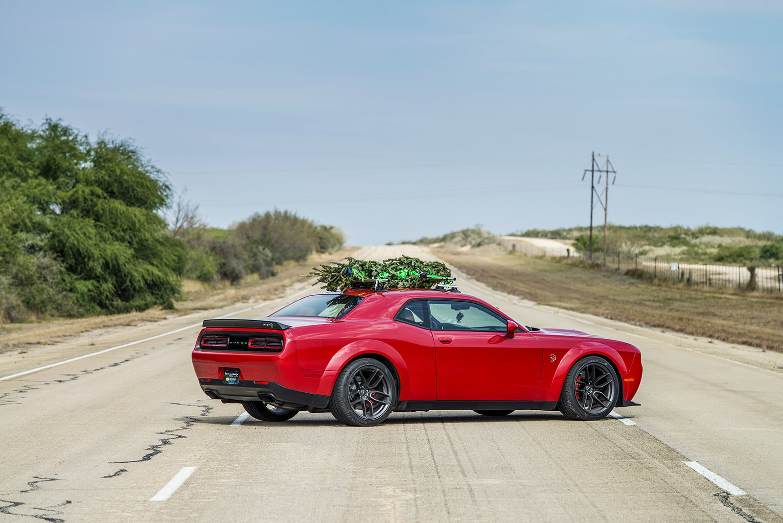 hennessey and dodge takes record for worlds fastest christmas tree 174mph 12