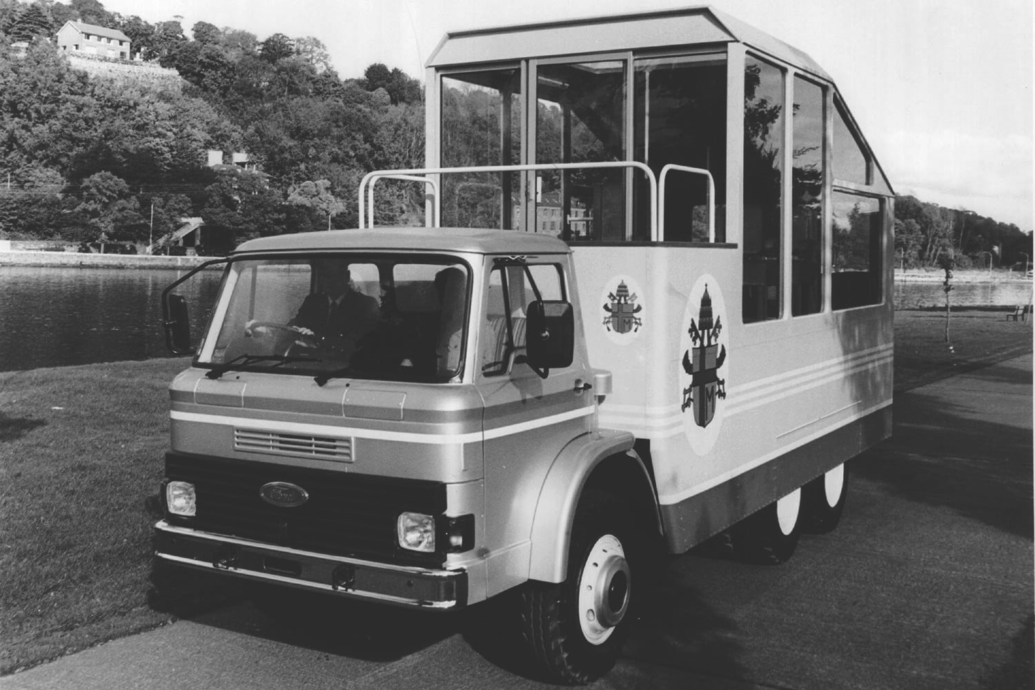 10 sweet popemobiles that will make you wish held the keys of heaven 1979 ford transit popemobile