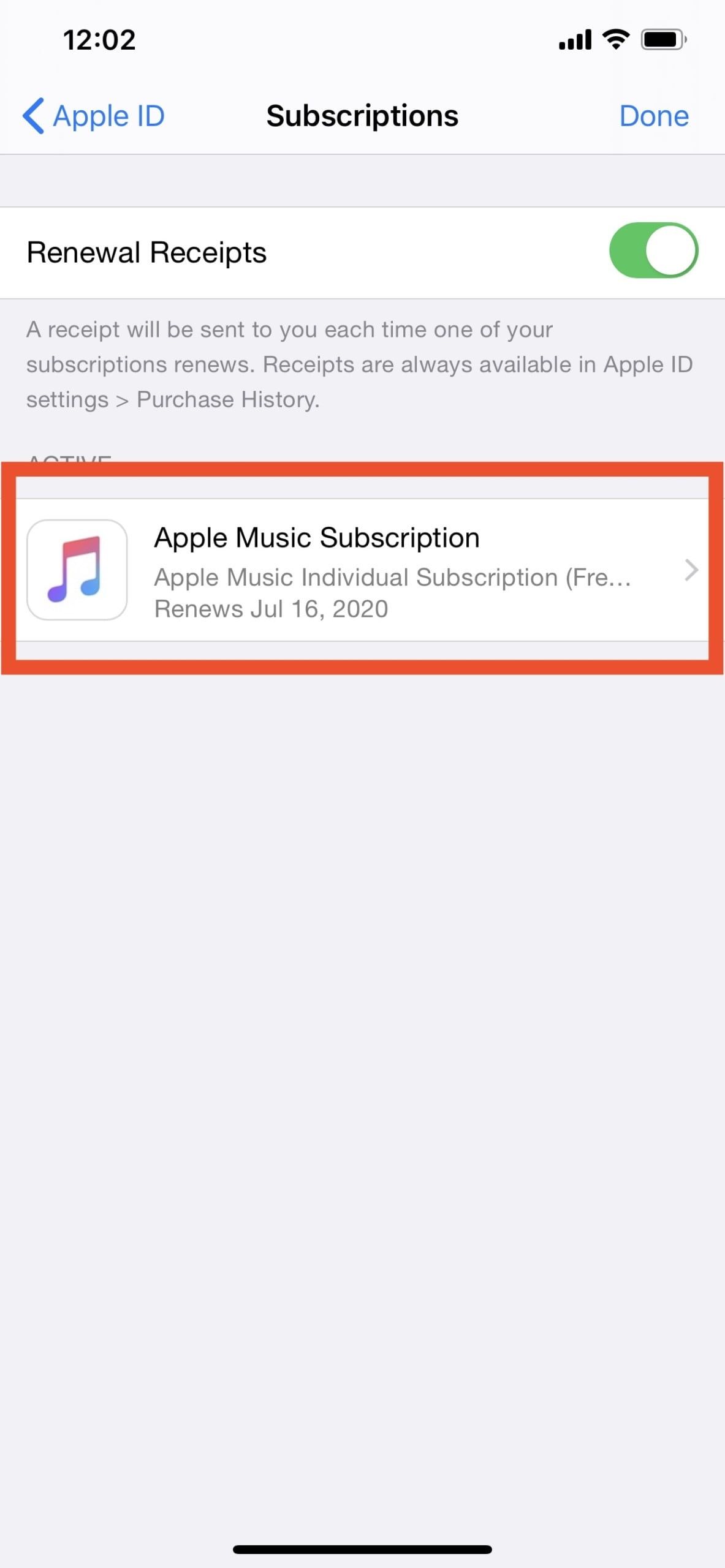 Where are subscriptions on iphone