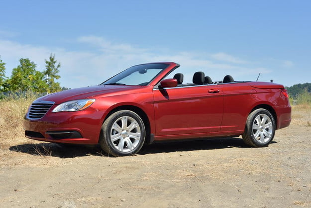 2012 chrysler 200 touring review convertible front side top down