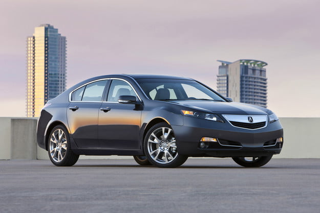 2013 Acura TL hands on front angle