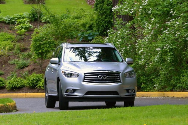 2013 infiniti jx35 review infinity exterior motion front 800x600
