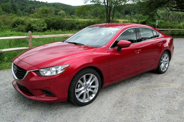 2014 mazda6 i touring review front side angle