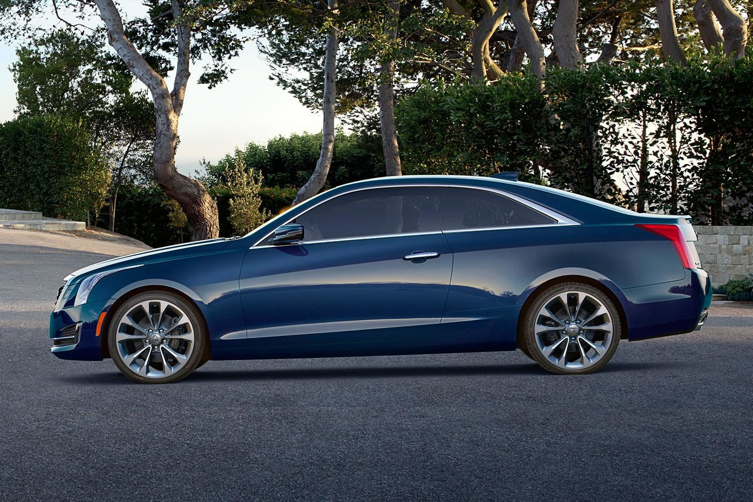2015 Cadillac ATS Coupe news left blue