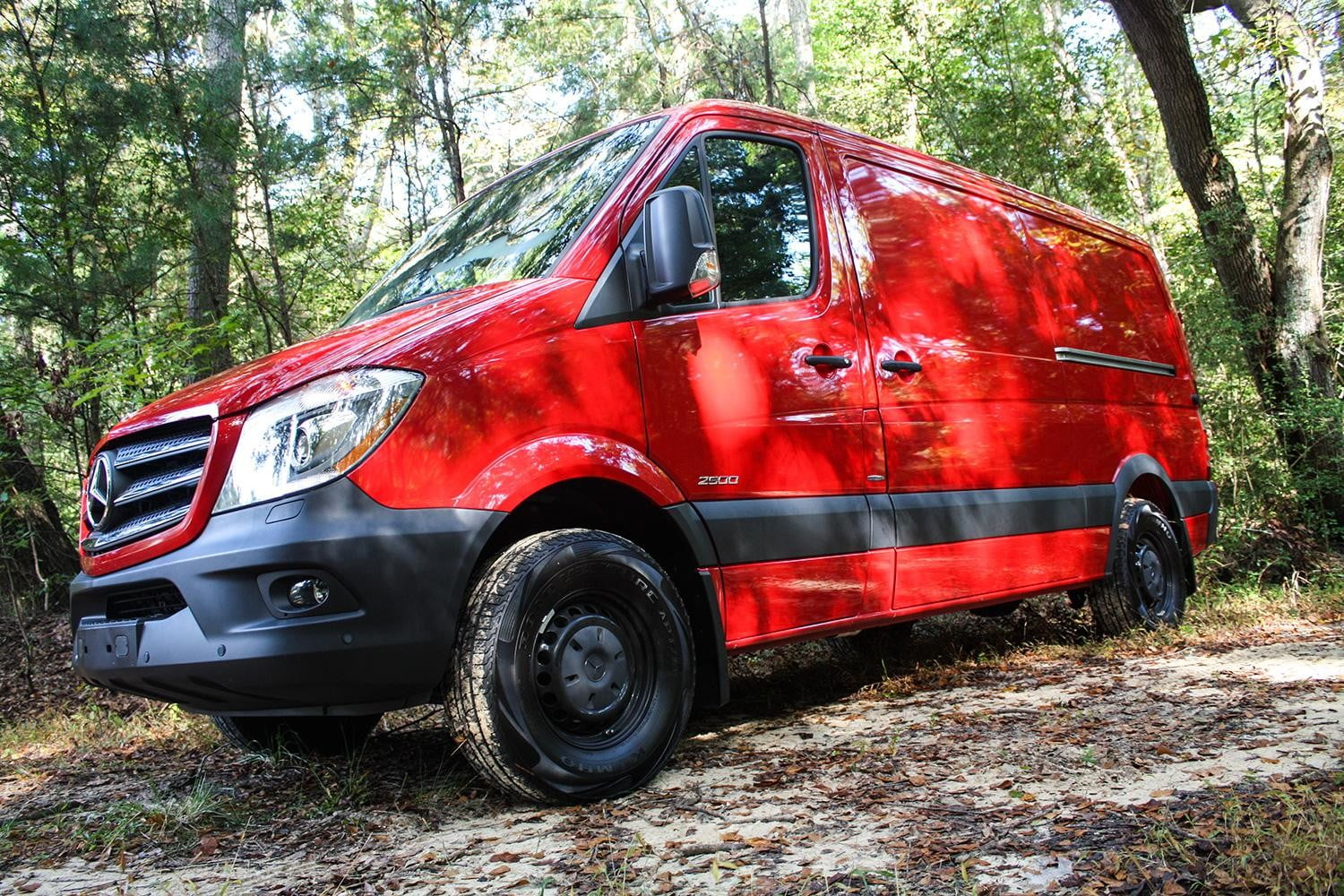 2015 Mercedes-Benz Sprinter red side angle
