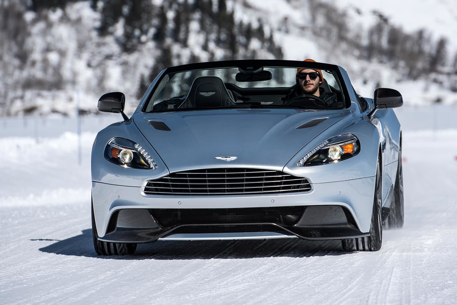 2016 aston martin on ice first drive 33 am track