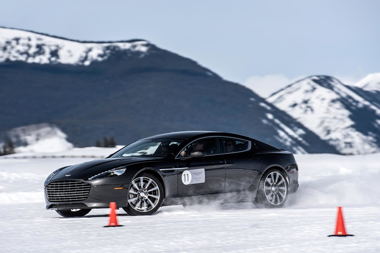 2016 aston martin on ice first drive 51 am track