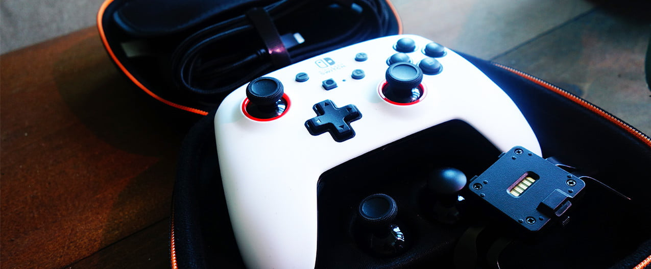 The PowerA Fusion Switch controller in its case.