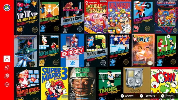 Collage of classic NES games.