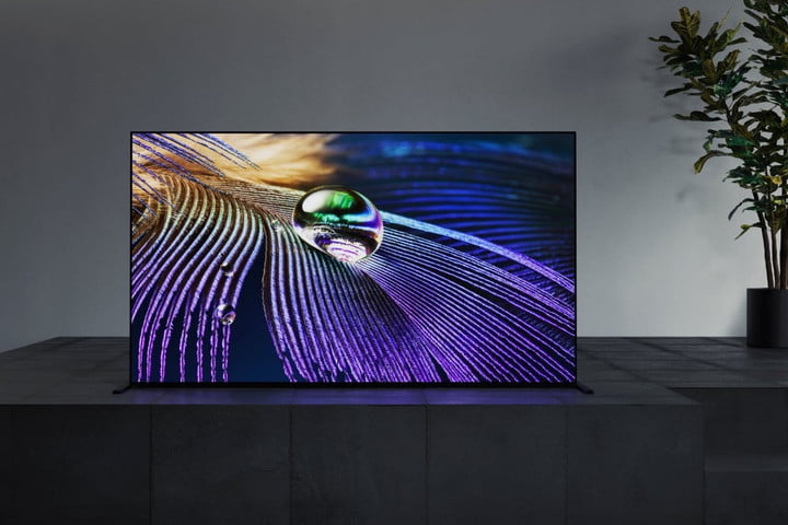 The Sony A90J OLED TV.