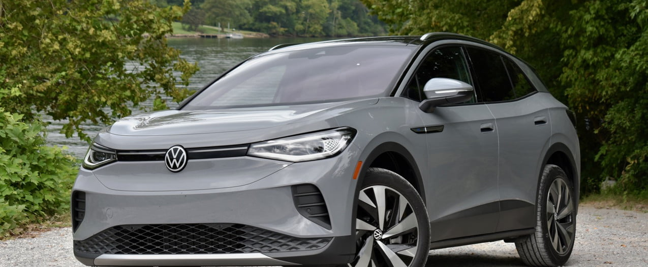 2021 volkswagen id4 awd review id 4 front three quarter