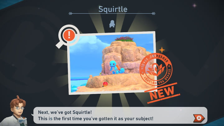 New Pokémon Snap Squirtle Picture