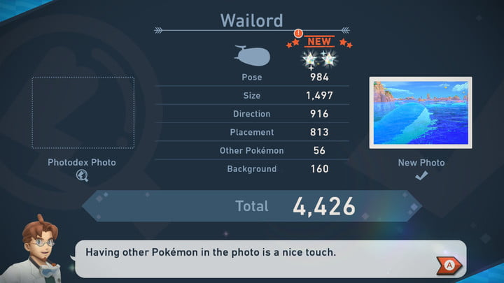 Total number of new Pokémon Snap Wailord Picture Point
