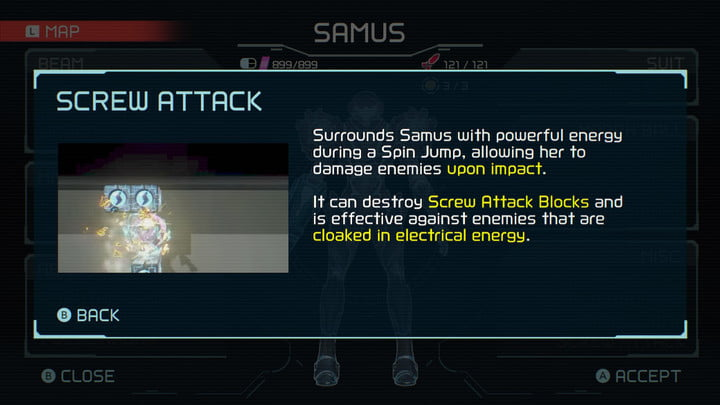 Screw Attack from Metroid Dread.