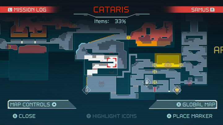 The map in Metroid Dread.