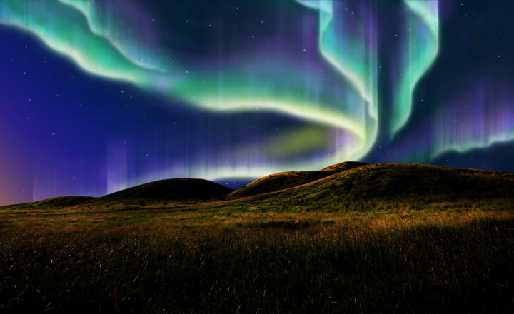 esa message to polaris 23879433  northern light on the silent field before sun rise