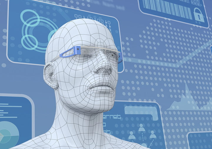 team gives cameras selective memory 23945311  one 3d model of a human head with pair smart glasses render