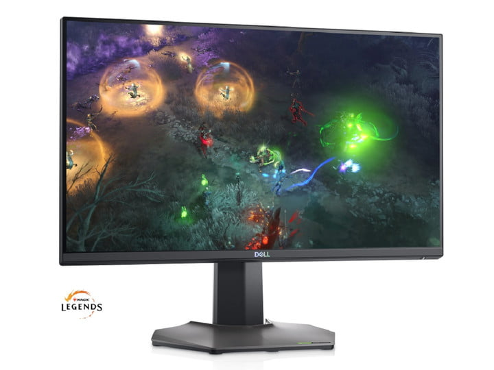 25-inch gaming monitor by Dell with Magic Legends on the screen.
