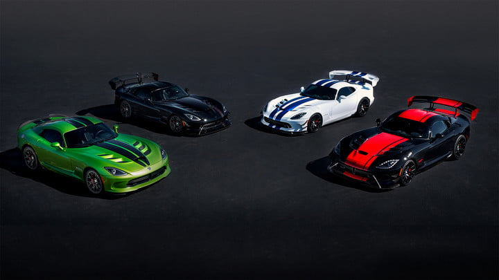 dodge viper to end production with special editions 25th anniversary limited edition vipers