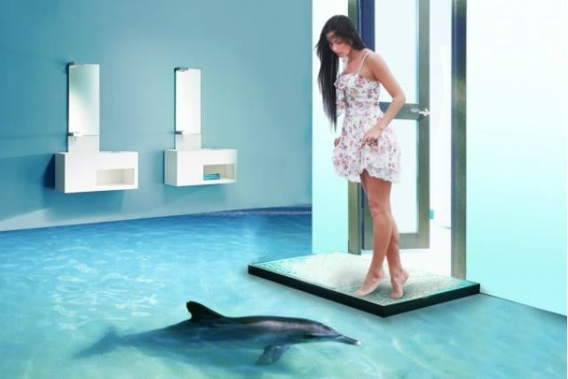 imperial interiors makes crazy 3d floors printed floor dolphin