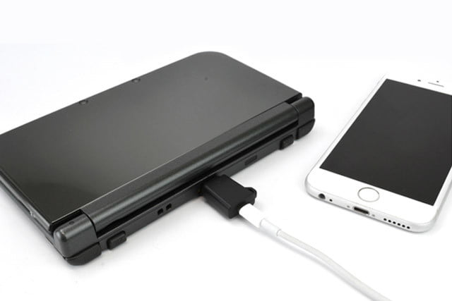 adapter lets iphone or android chargers power 3ds 3dscharger