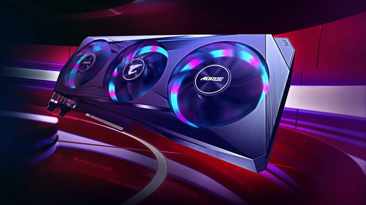 Promotional image of an AMD Radeon RX 6000-series graphics card.
