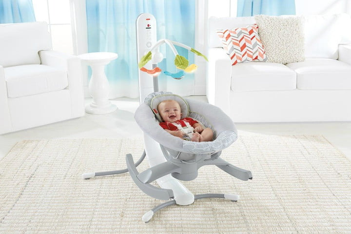 control the 4 in 1 smart connect cradle n swing with a smartphone baby rocker and