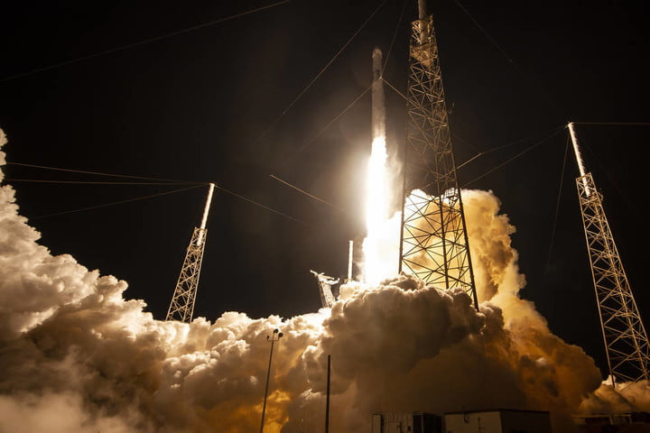 SpaceX's Dragon lifting off on a Falcon 9 rocket from Space Launch Complex 40 at Cape Canaveral Air Force Station in Florida on Saturday, May 4, with research, equipment, cargo and supplies that will support dozens of investigations aboard the International Space Station.