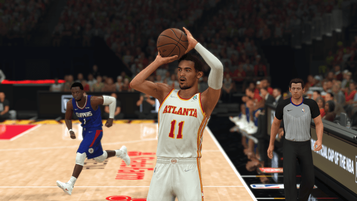 Trae Young in NBA 2K22.