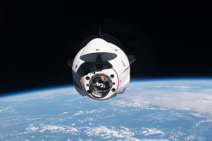 The SpaceX Crew Dragon Endeavour during its approach to the International Space Station.