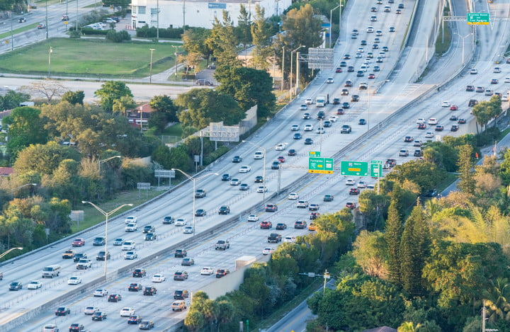 usdot automation advisory group 54287771  aerial view of interstate traffic