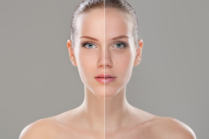 getty bans photoshopped bodies in stock 63536699  woman face retouched