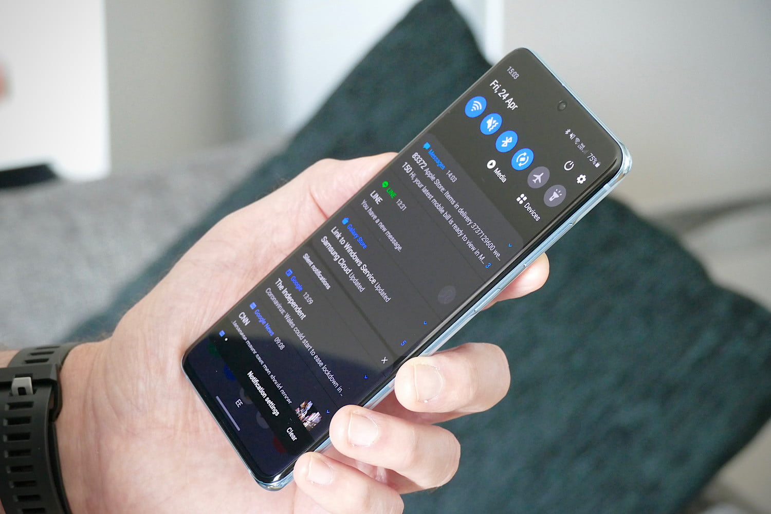 samsung galaxy s20 review notifications
