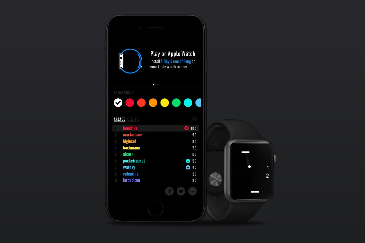 heres a tiny game of pong for your apple watch iphone ios 5