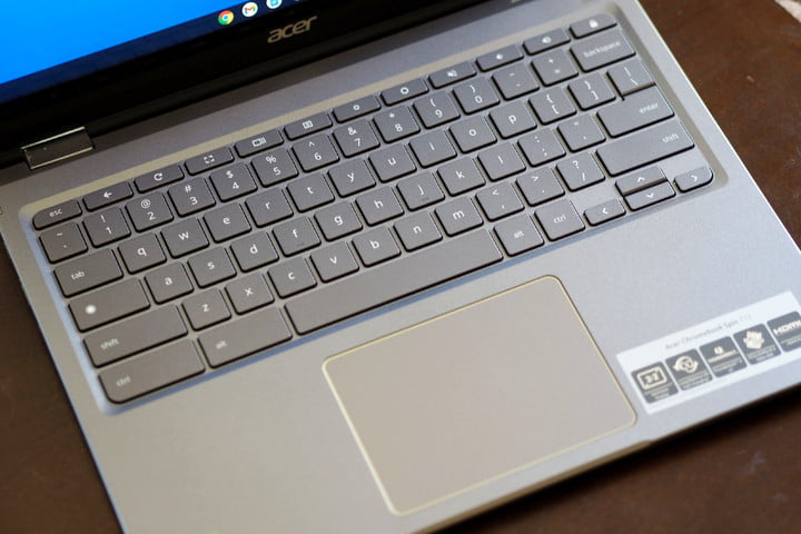The keyboard of the Acer Chromebook Spin 713.