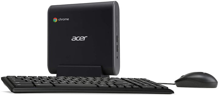 Acer Chromebox CXI3-UA91 with a keyboard and mouse.