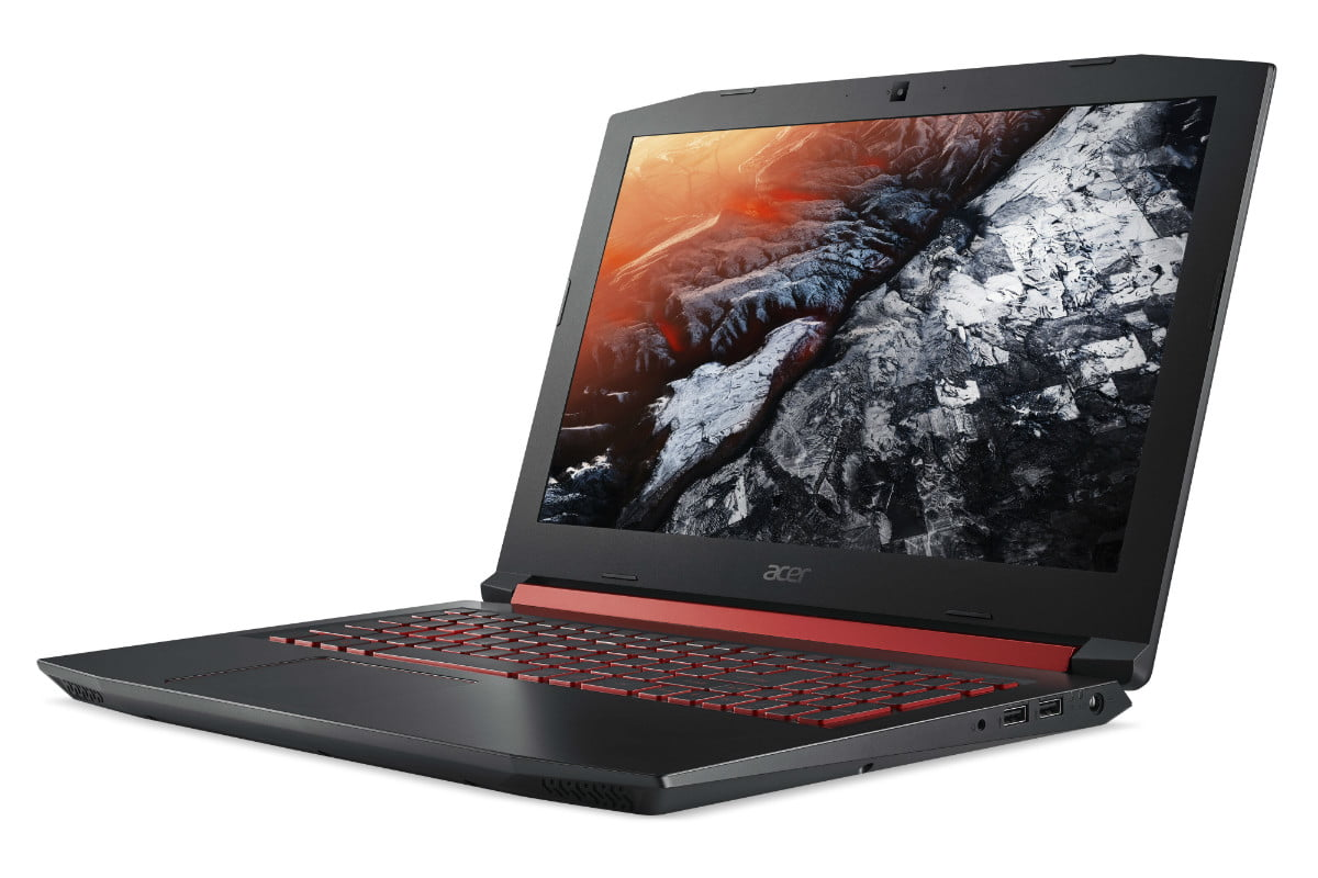 acer introduces nitro 5 gaming notebook gtx 1050 ti intel optane front right angle