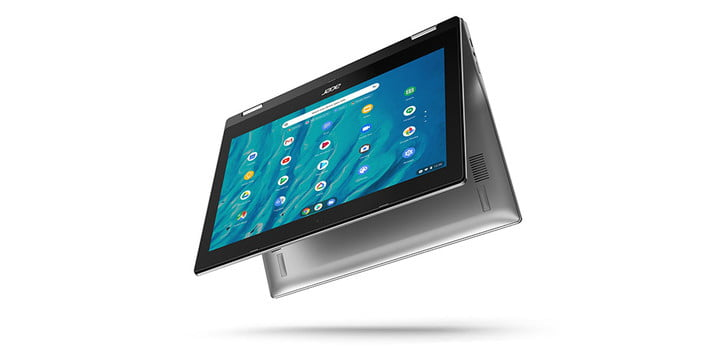 Acer Spin 311 11.6-inch Touchscreen Chromebook on a white background.